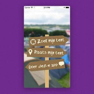 Festival apps Vind Mijn Tent Tele2