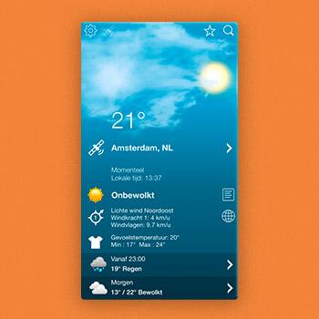 weer app Weer XL Tele2