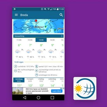 Weer & Radar regen app