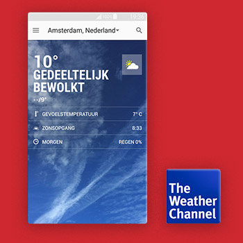 weer apps buitenland weather channel Tele2