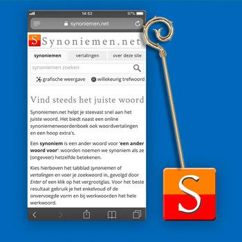 Sinterklaas apps synoniemen.net Tele2