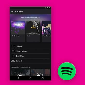 muziek app spotify tele2