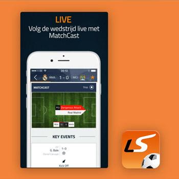 voetbal app LiveScore tele2
