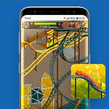 retro games rollercoaster tycoon classic app smartphone tele2