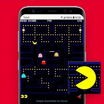 retro games smartphone pacman tele2