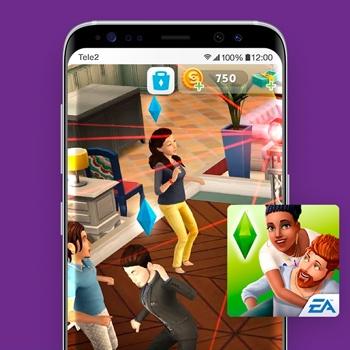 retro games the sims app tele2