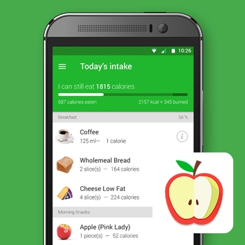 calorieteller app virtuagym afvallen gezond eten smartphone tele2