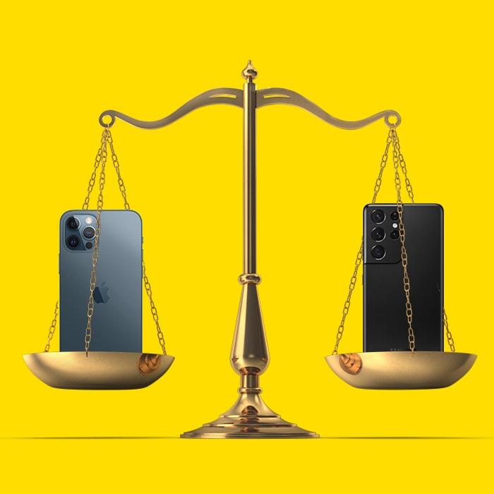 smartphone-iPhone-vs-Samsung-S21-Tele2Blog