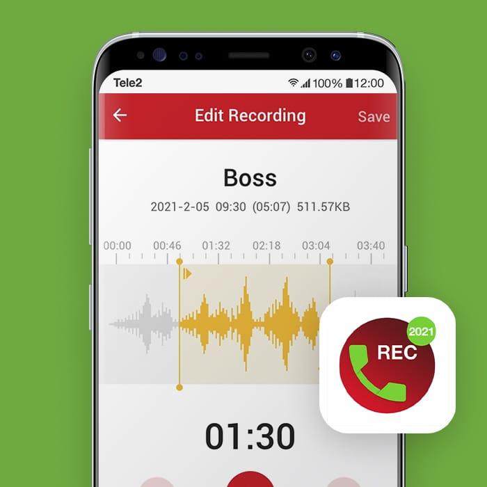 Een gesprek opnemen met Samsung telefoon