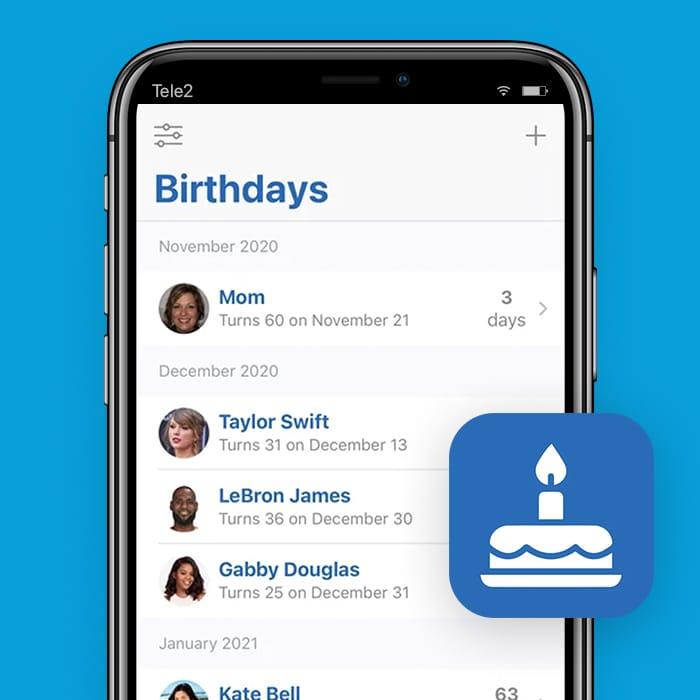 Birthday Reminder-verjaardag-app-Tele2Blog