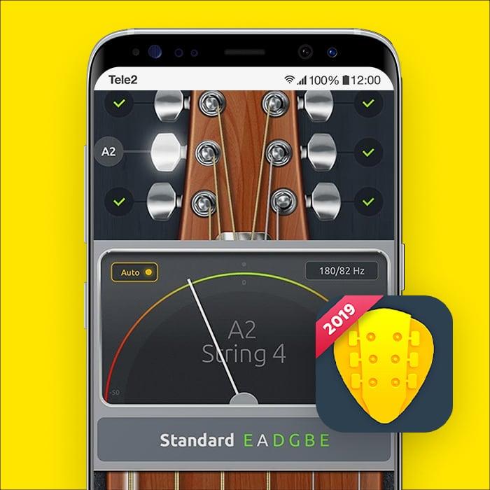 Zo stem je je gitaar met je smartphone met Tuner