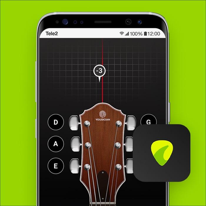 Zo stem je je gitaar met je smartphone met GuitarTuna