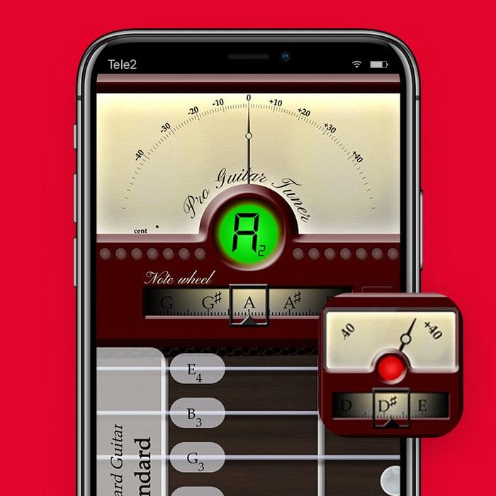 Zo stem je je gitaar met je smartphone met Pro GuitarTuner