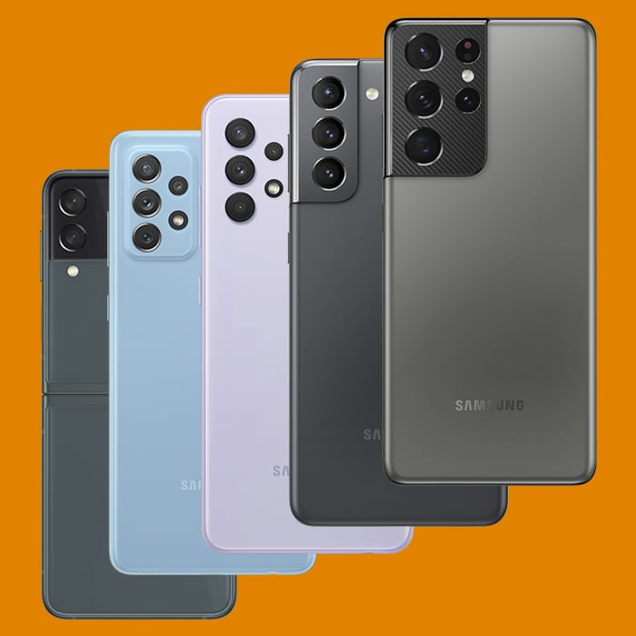 5 telefoons van samsung met goede camera